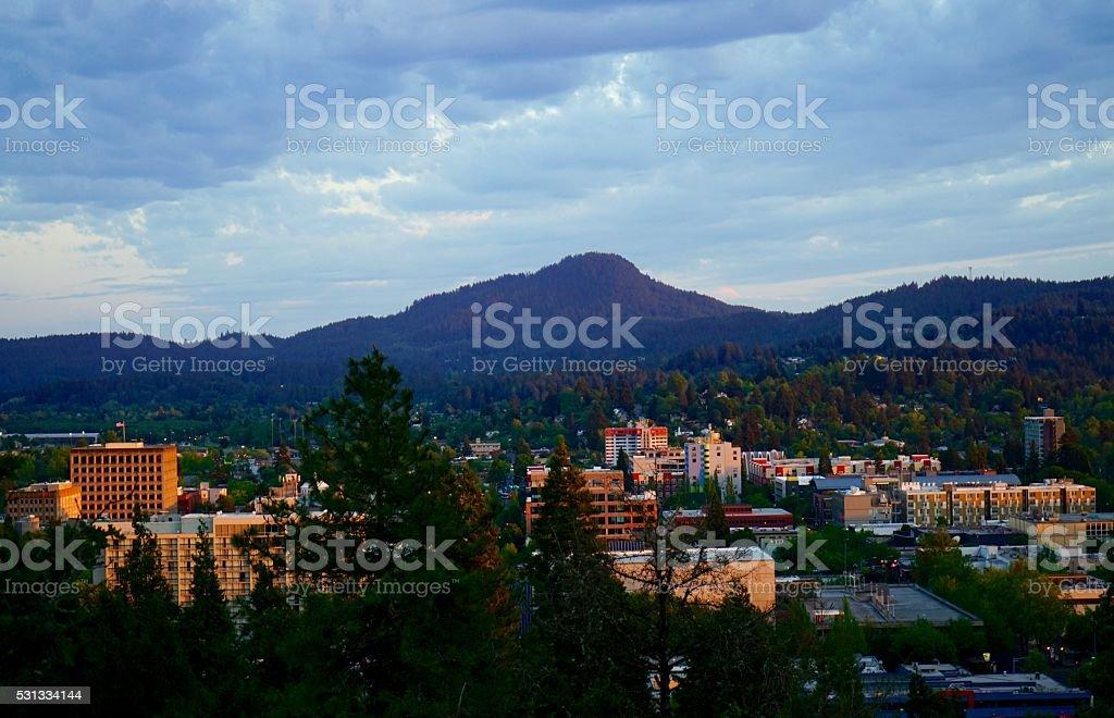 Eugene City stock photo