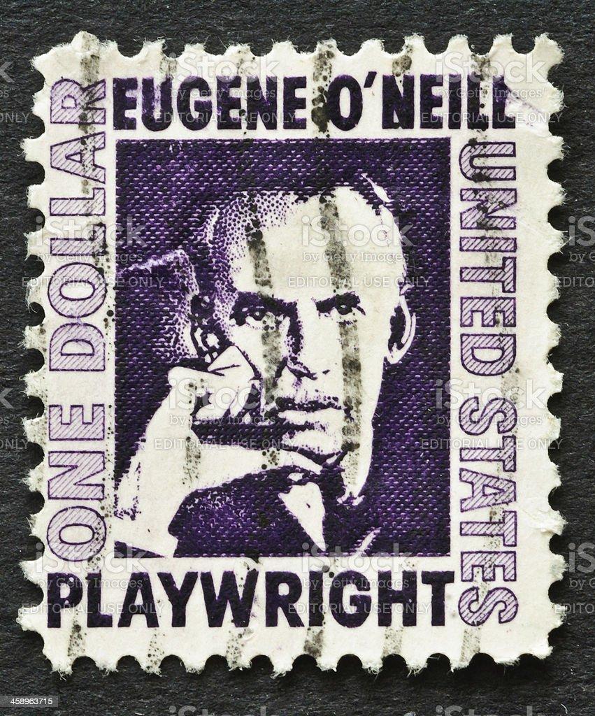 Eugene O'Neill Stamp stock photo