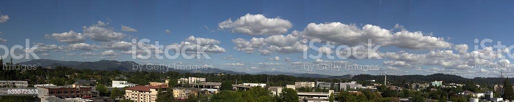 Eugene Oregon Panorama stock photo