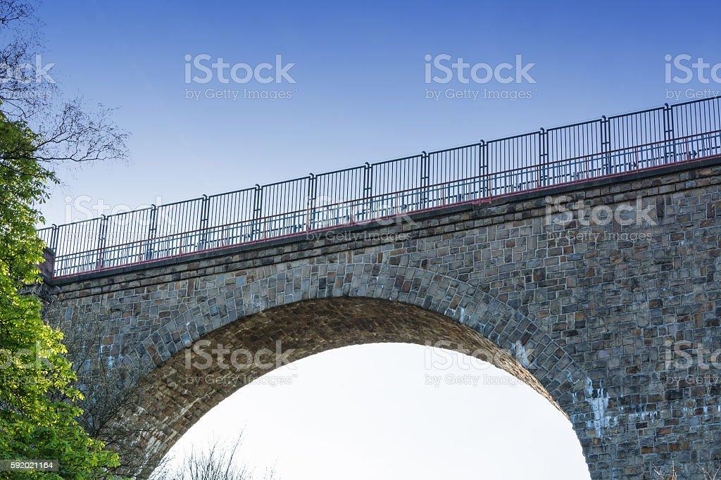 Eulenbach Bridge in Velbert. stock photo