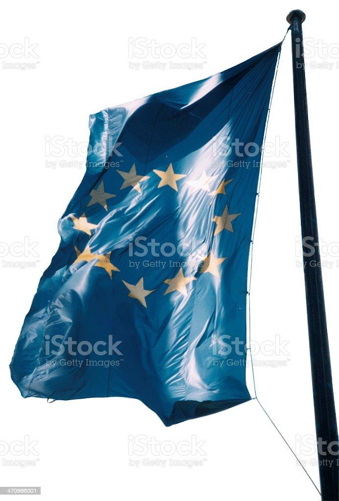 Euopean Flag (white background) royalty-free stock photo