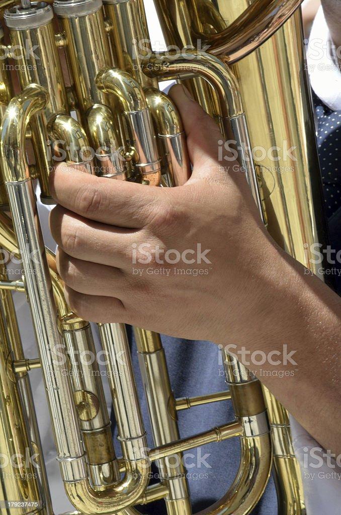 Euphonium player royalty-free stock photo