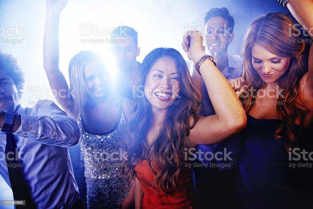 Euphoria on the dance floor! royalty-free stock photo