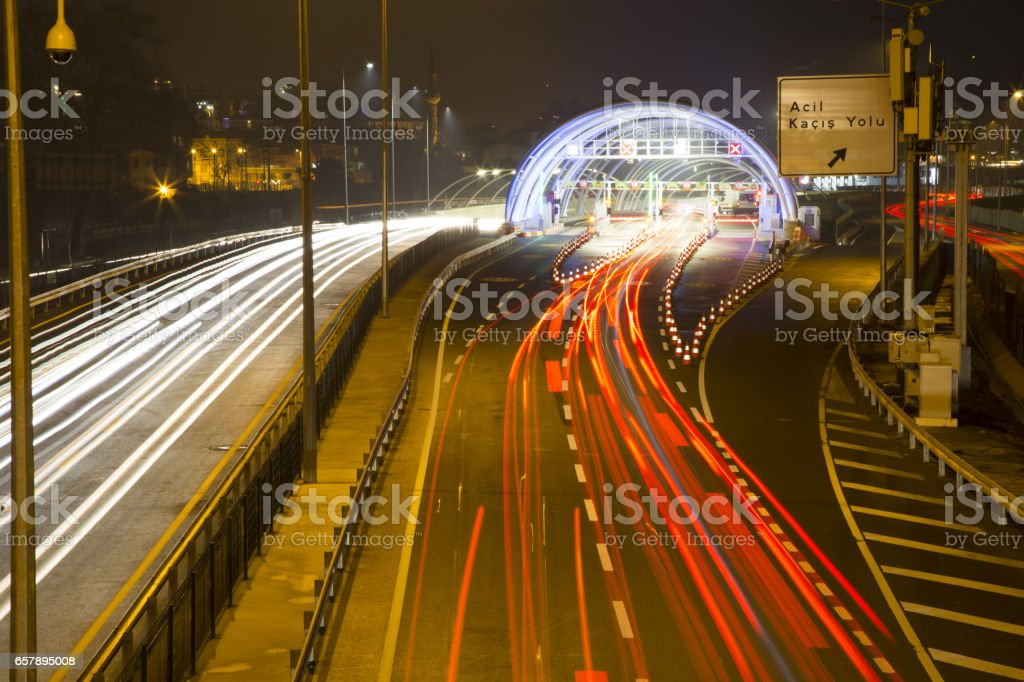 Eurasia Tunnel (Avrasya Tuneli) or Istanbul Bosphorus Highway Tube Transition Project. Is a tunnel that links Asian and European. Tunnel opened 20th December 2016. stock photo