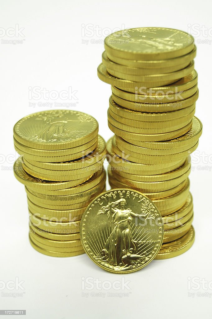 Eureka!  Gold! royalty-free stock photo