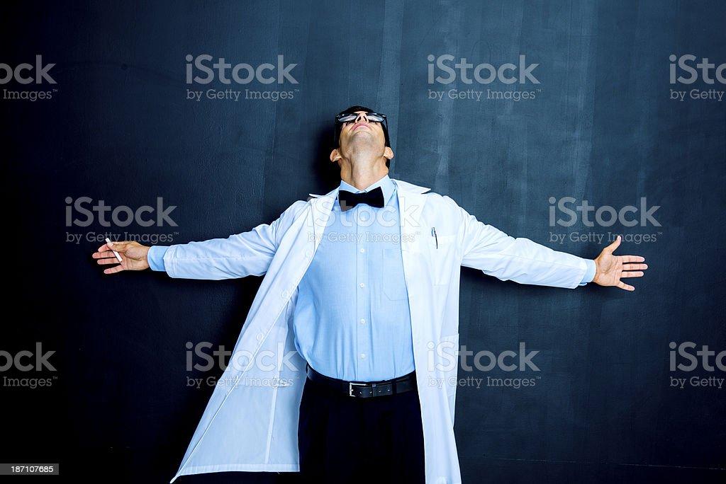 Eureka! Successful scientist royalty-free stock photo