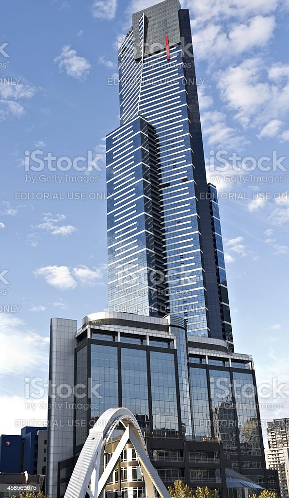 Eureka Tower Melbourne. Highest residential skyscraper in southern hemisphere. royalty-free stock photo