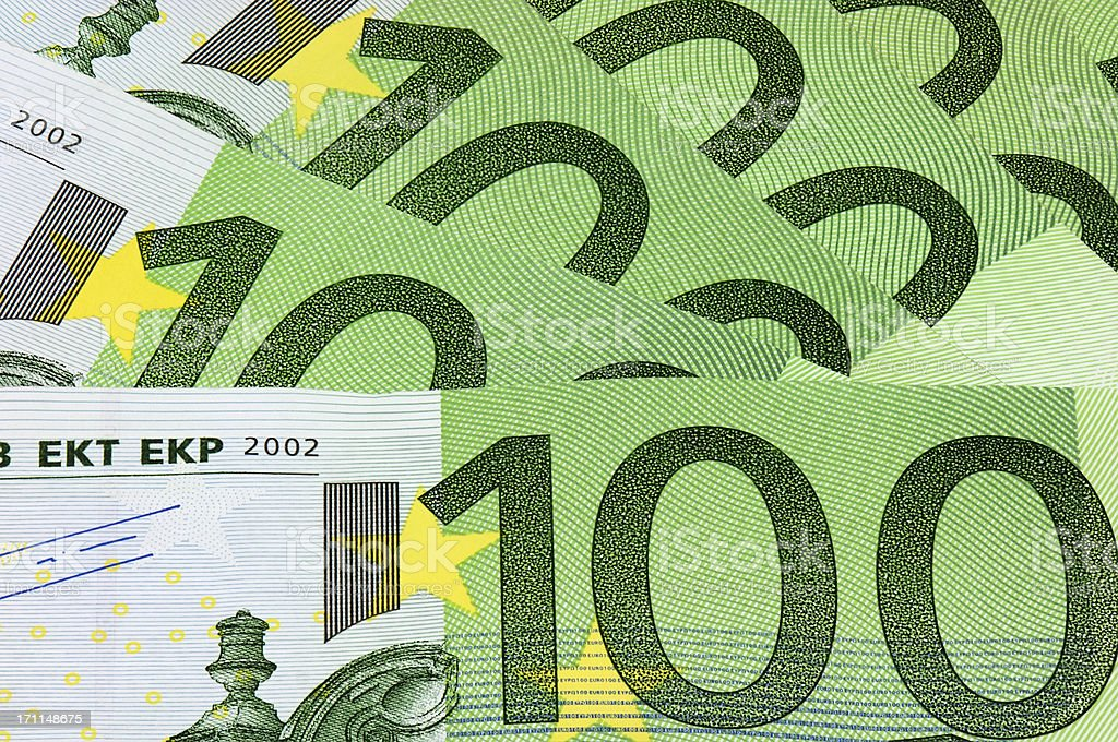Euro 100 bank note currency royalty-free stock photo