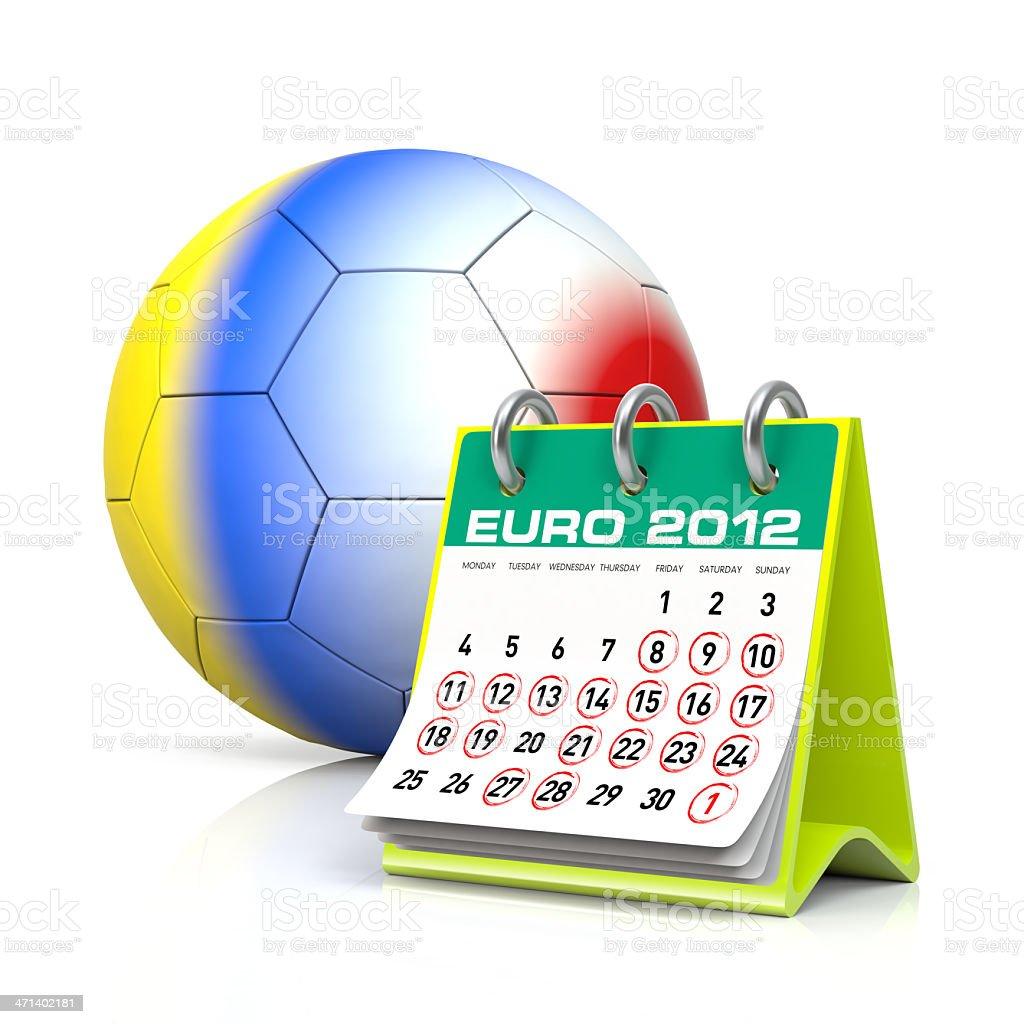 Euro 2012 Calendar stock photo