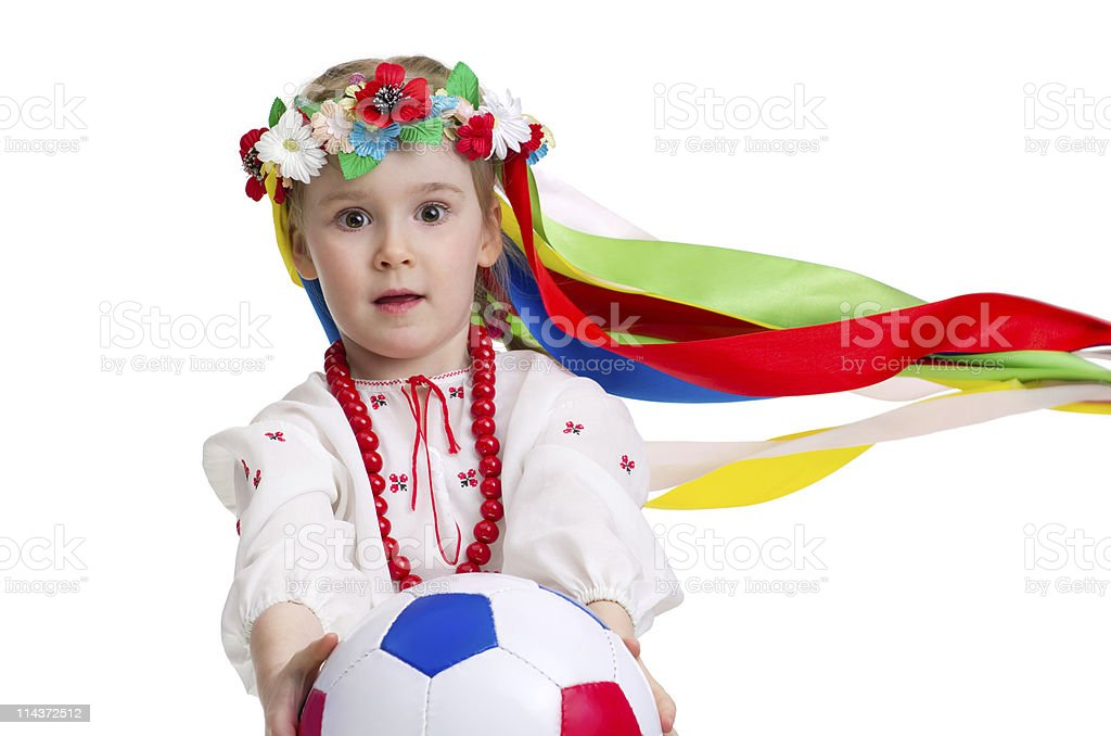 Euro 2012 fan royalty-free stock photo