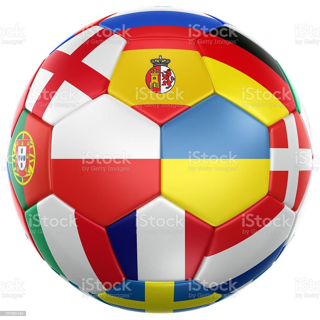 Euro 2012 soccer ball royalty-free stock photo