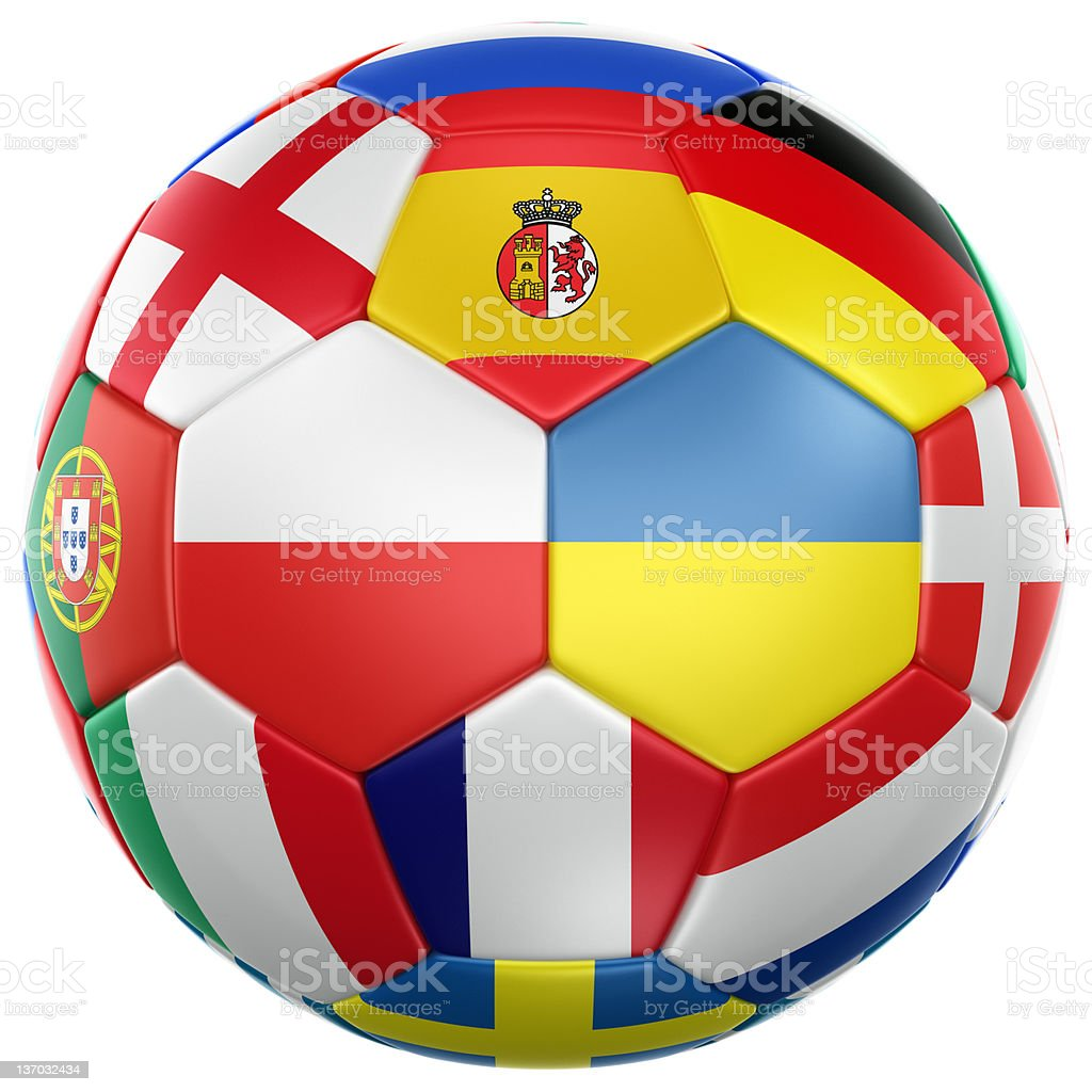 Euro 2012 soccer ball stock photo