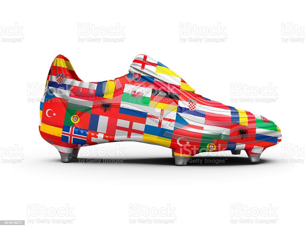 Euro 2016 Football Boot stock photo