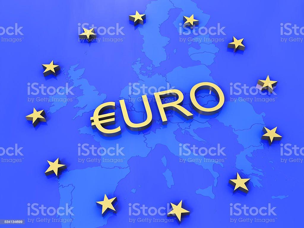 Euro 3D Concept III stock photo