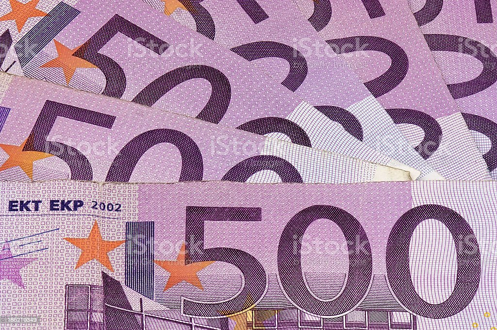 Euro 500 bank note currency stock photo
