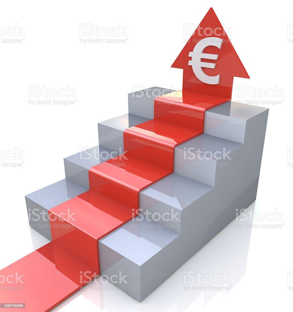 Euro Arrow upstairs stock photo