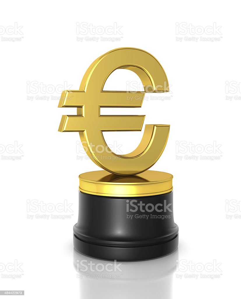 Euro Award royalty-free stock photo