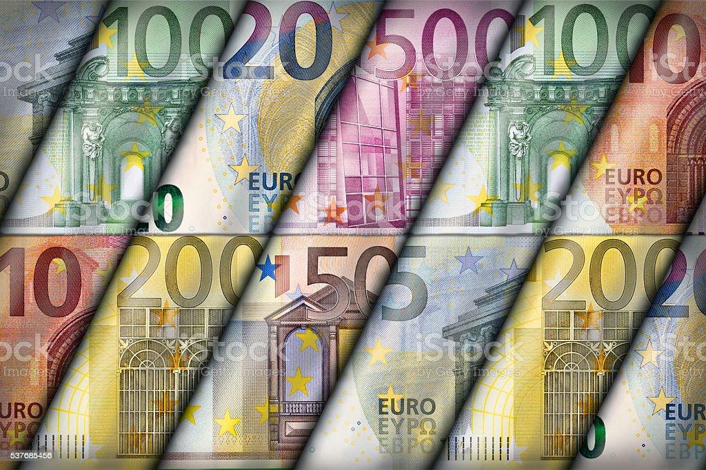 Euro Background stock photo