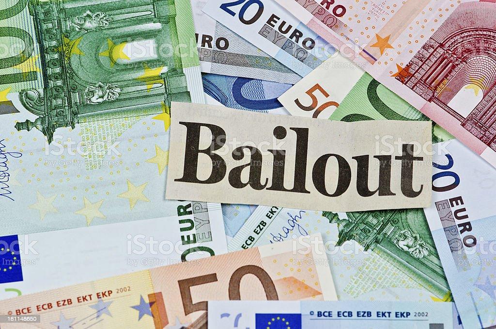 Euro Bailout royalty-free stock photo