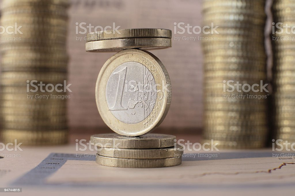 Euro balance royalty-free stock photo