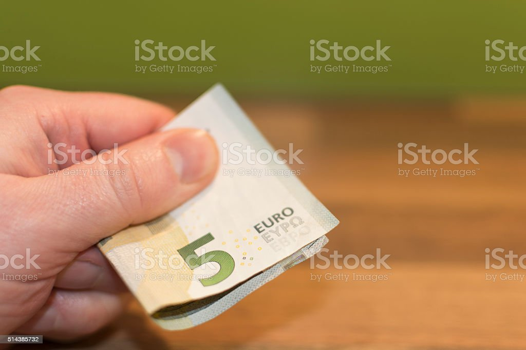 5 Euro Bank Note stock photo
