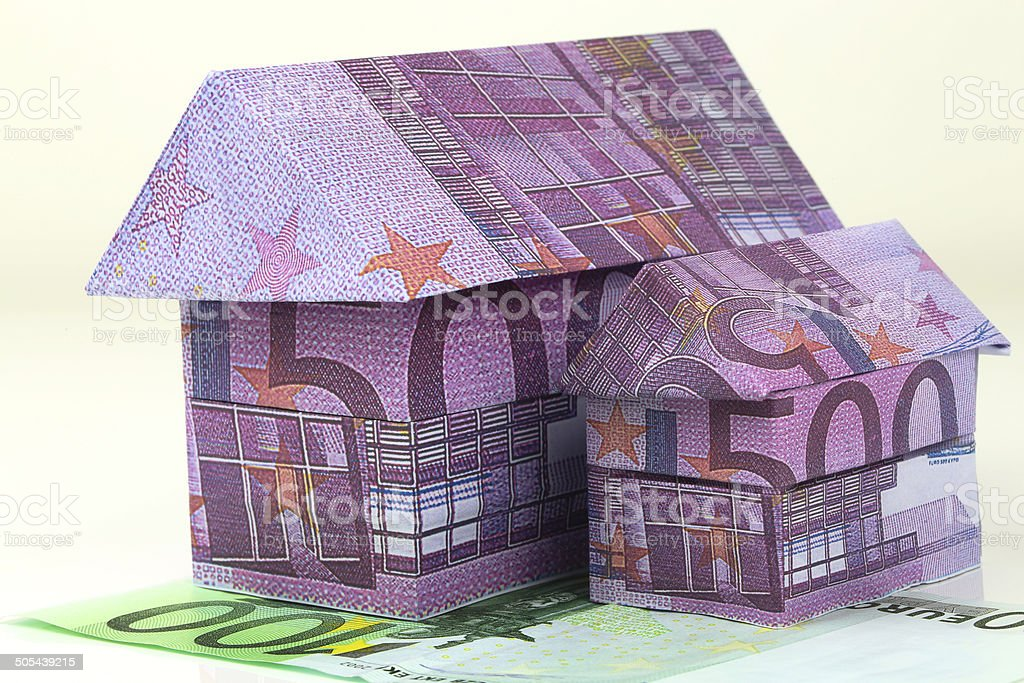 Euro bank notes House royalty-free stock photo