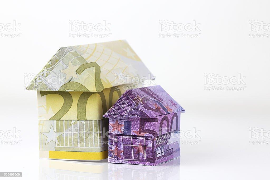 Euro bank notes House royalty-free stock photo