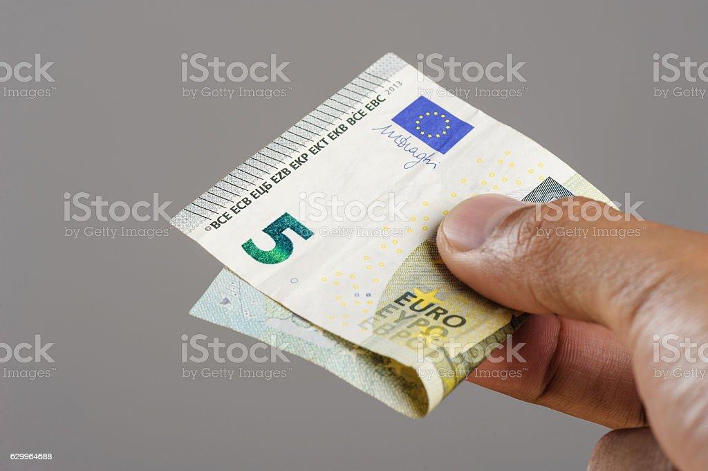 euro bank notes stock photo