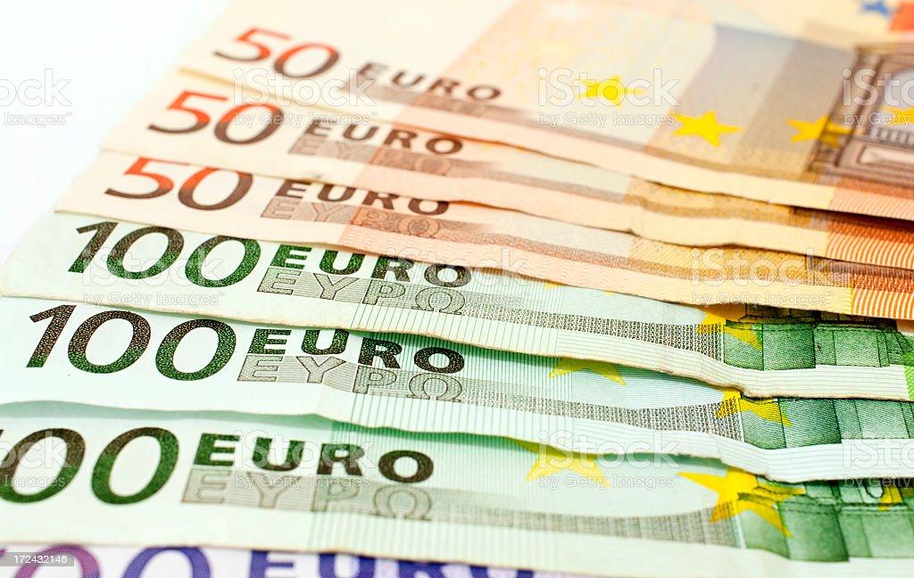 Euro banknote  50-100-500 royalty-free stock photo