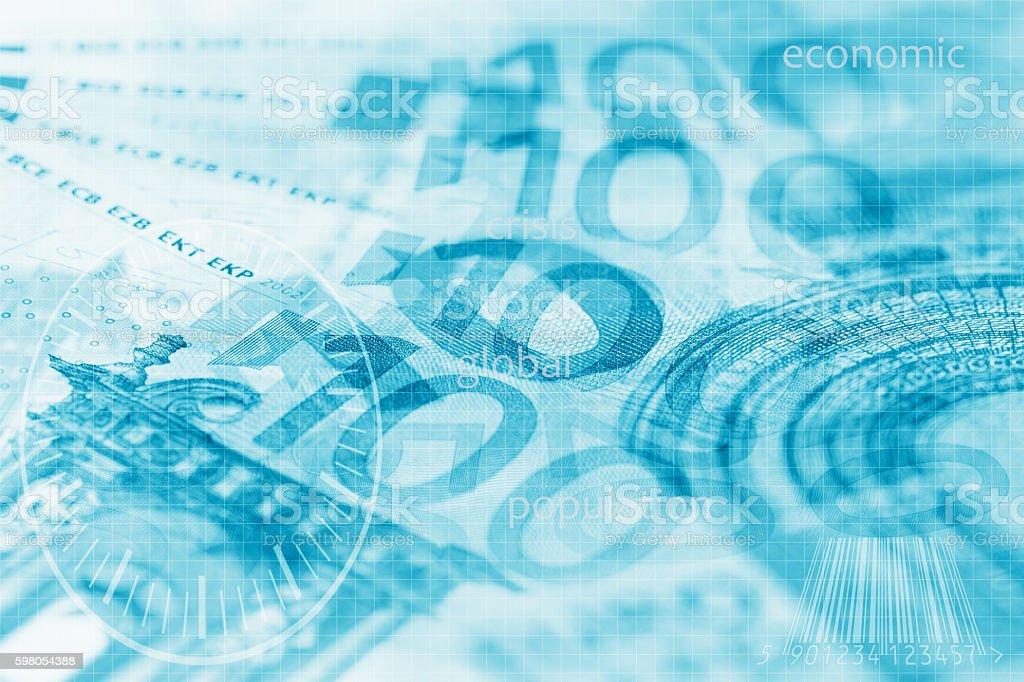 Euro Banknote in a macro shot stock photo