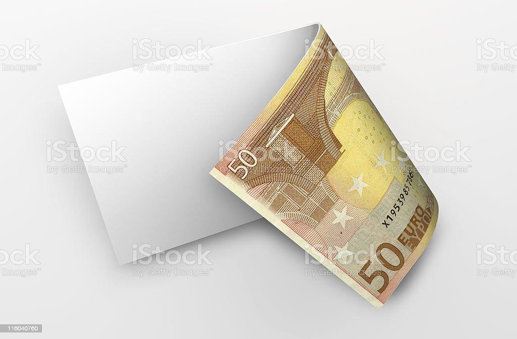 euro banknote royalty-free stock photo