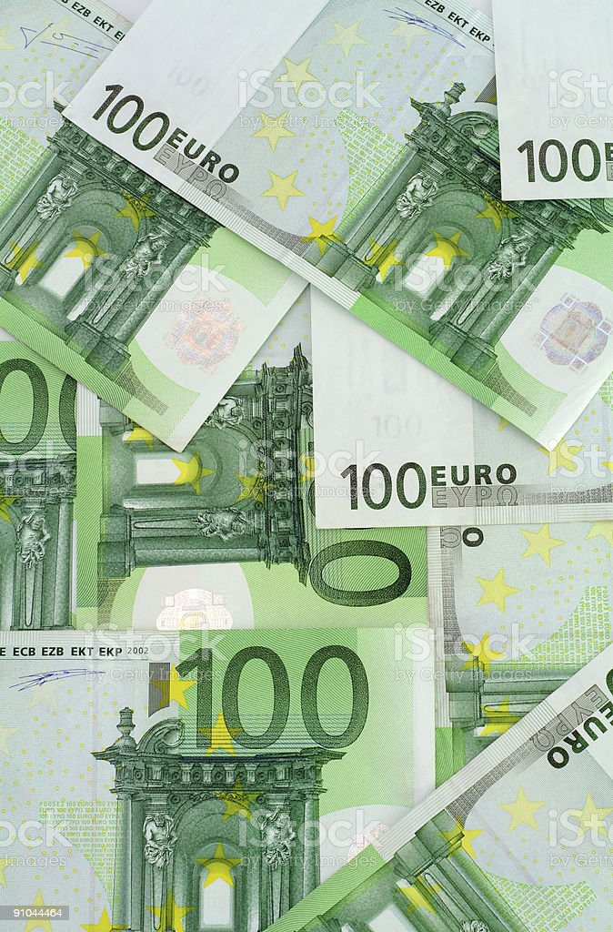 Euro banknotes background royalty-free stock photo