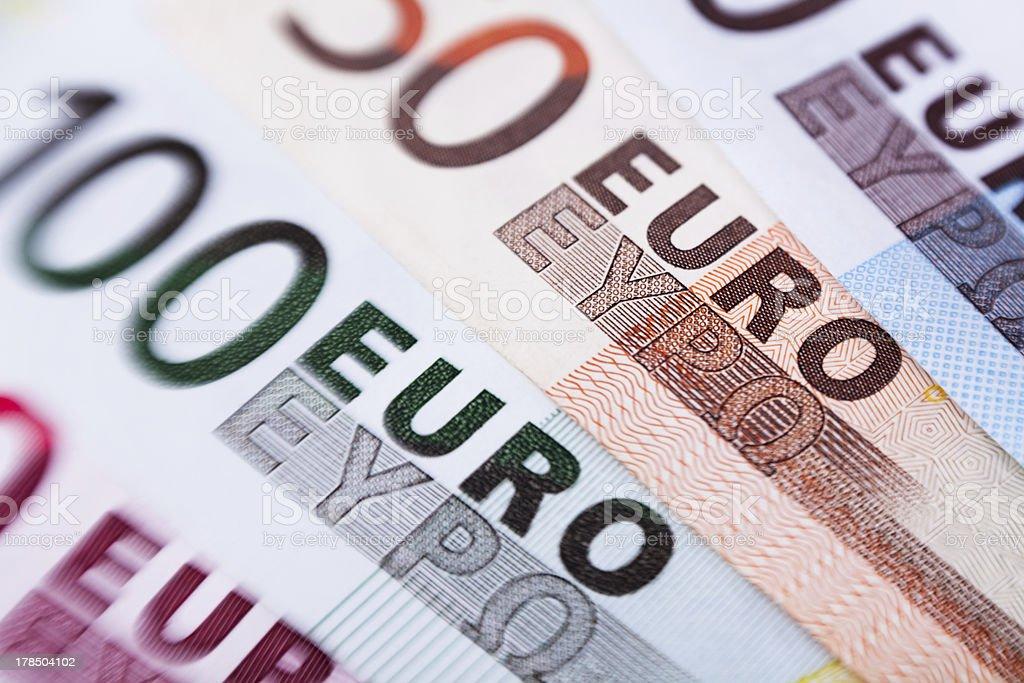 euro banknotes closeup royalty-free stock photo