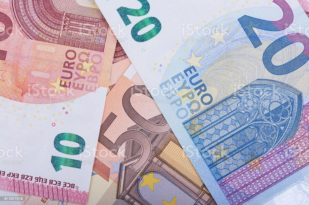 Euro banknotes. European Union Currency stock photo