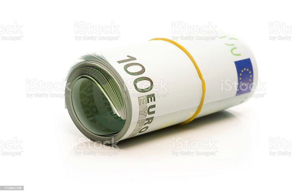 Euro Banknotes Money Roll stock photo