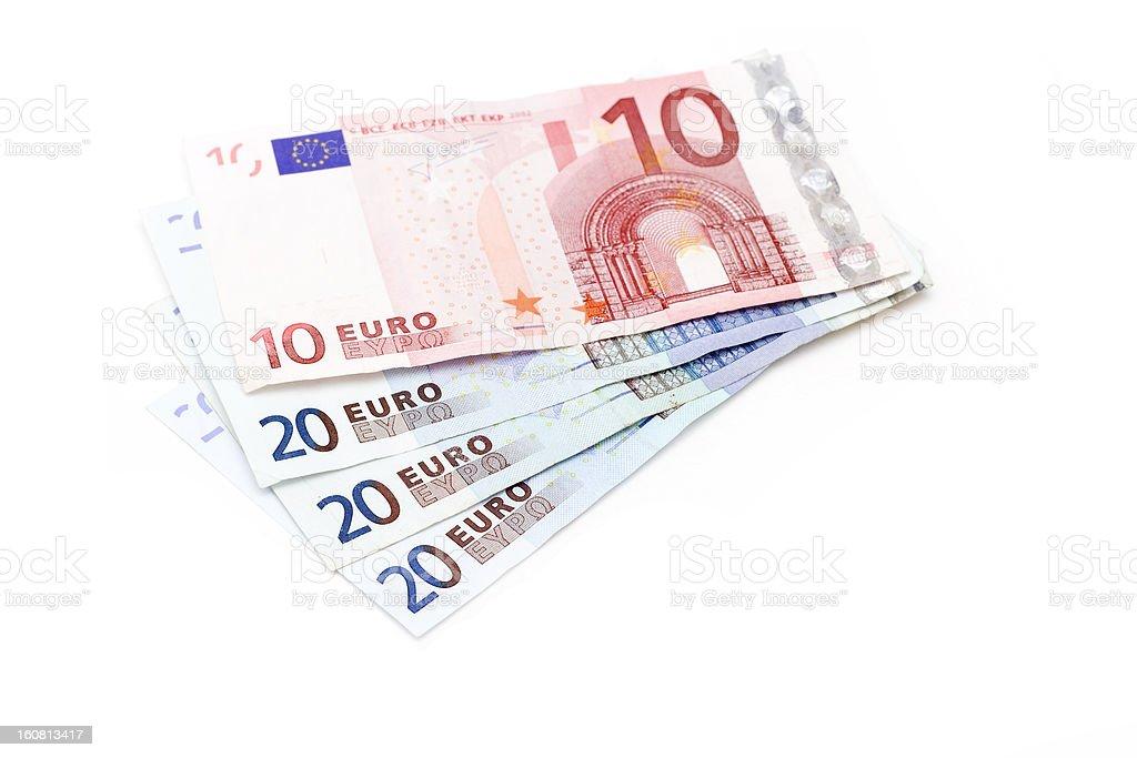 Euro banknotes royalty-free stock photo