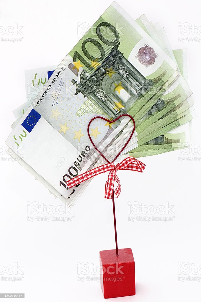 100 Euro Banknotes. royalty-free stock photo