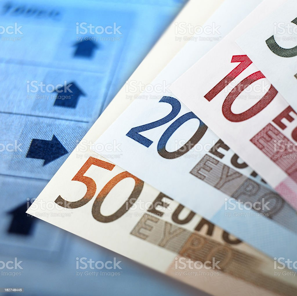 Euro banknotes royalty-free stock photo