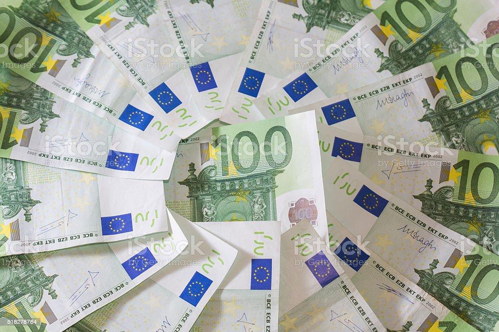 Euro banknotes. stock photo