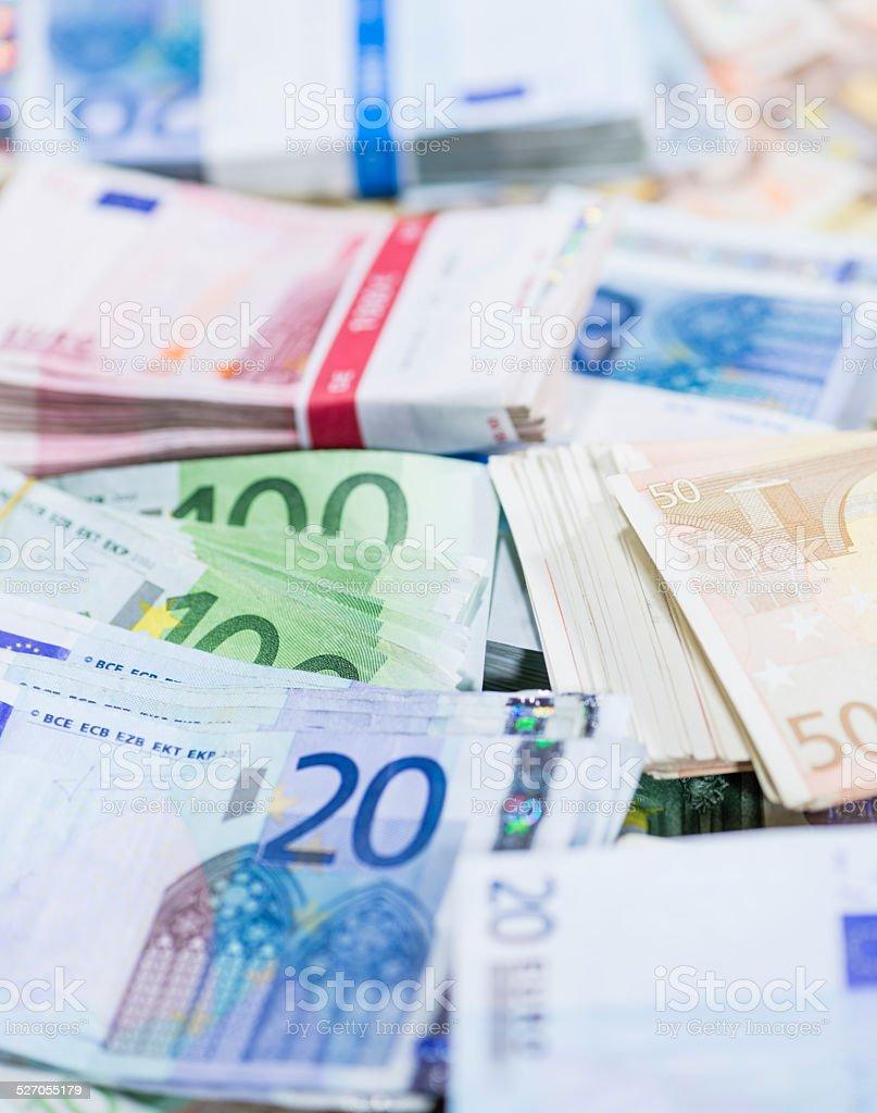 Euro Banknotes (close-up shot) stock photo
