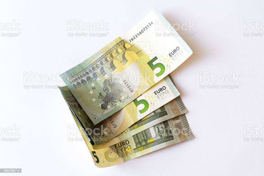 5 Euro banknotes stock photo