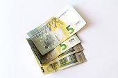 5 Euro banknotes