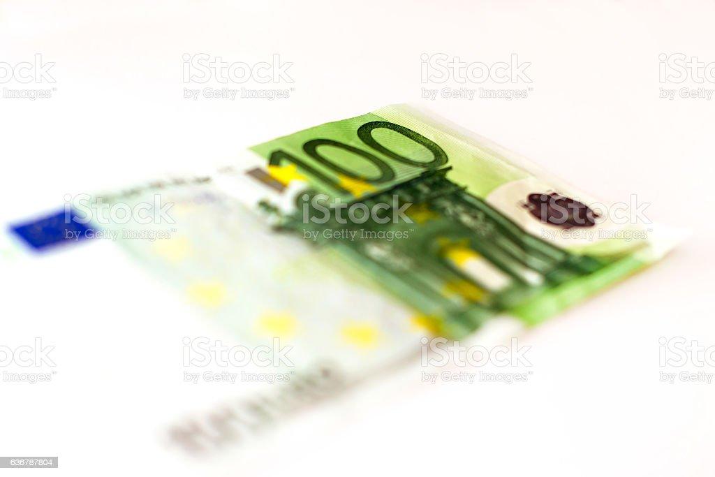 100 Euro banknotes stock photo