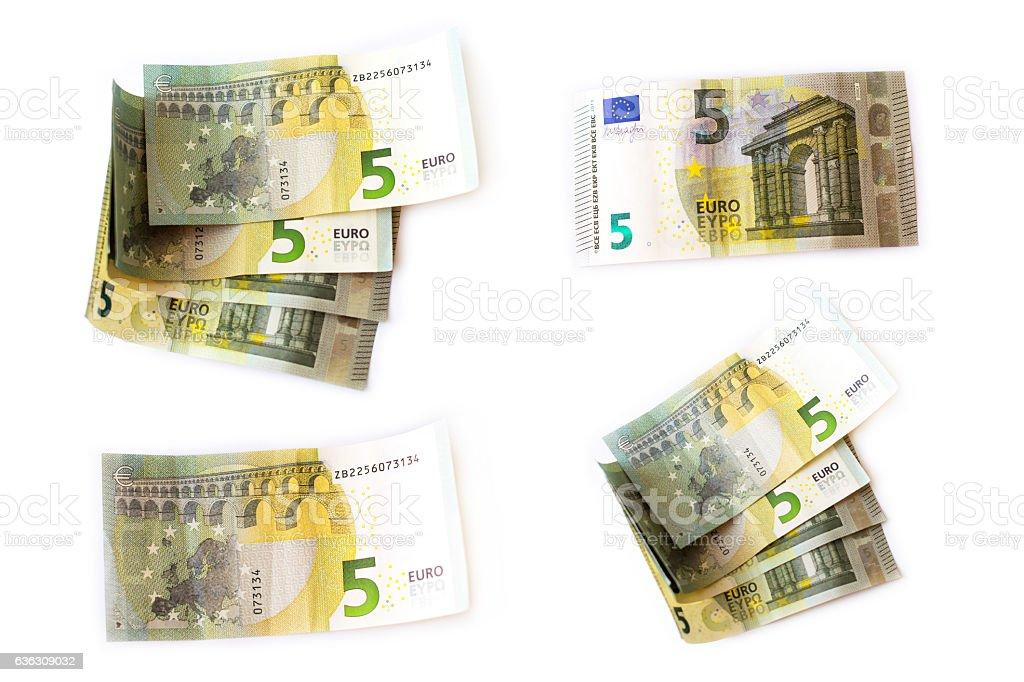 Euro banknotes set stock photo