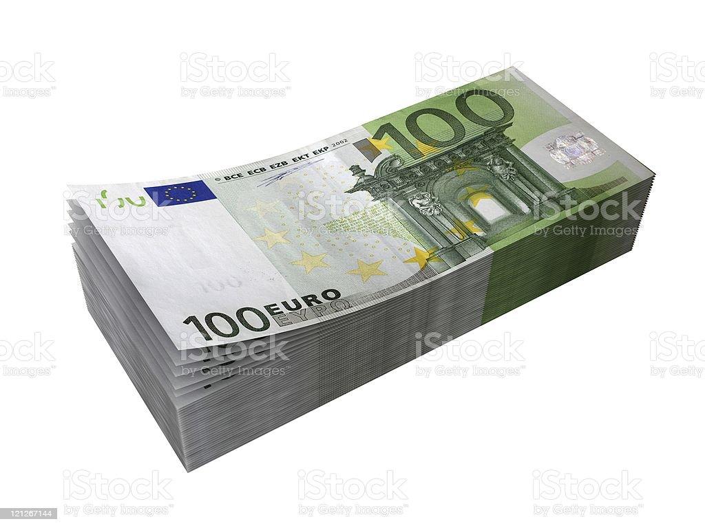 Euro Banknotes Stack royalty-free stock photo