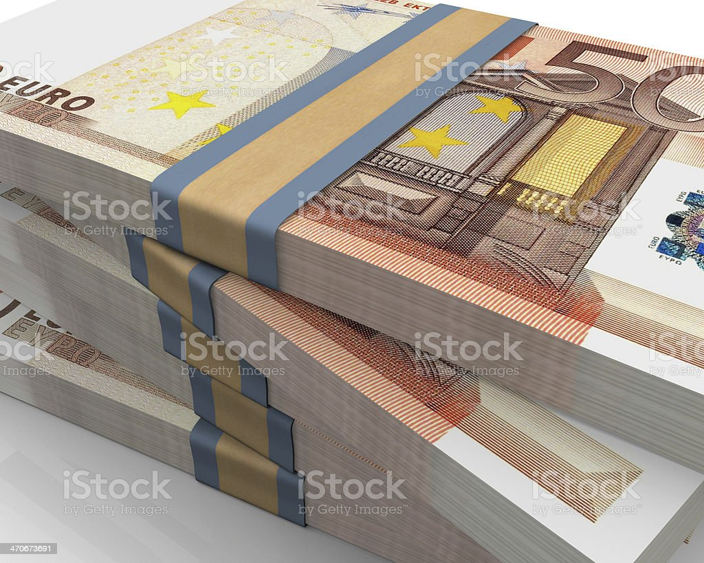 Euro bills 50 stock photo