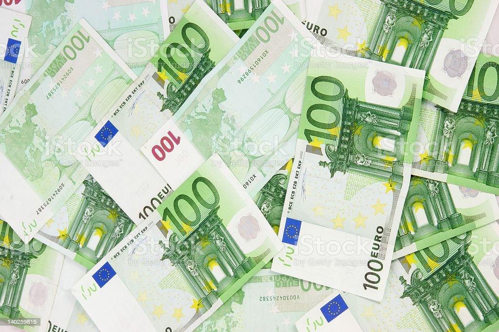 Euro Bills Background denomination stock photo