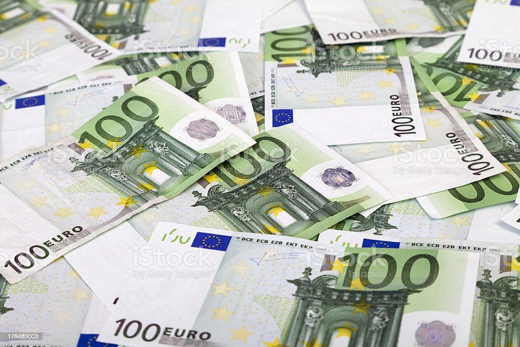 100 Euro bills, Close-up stock photo