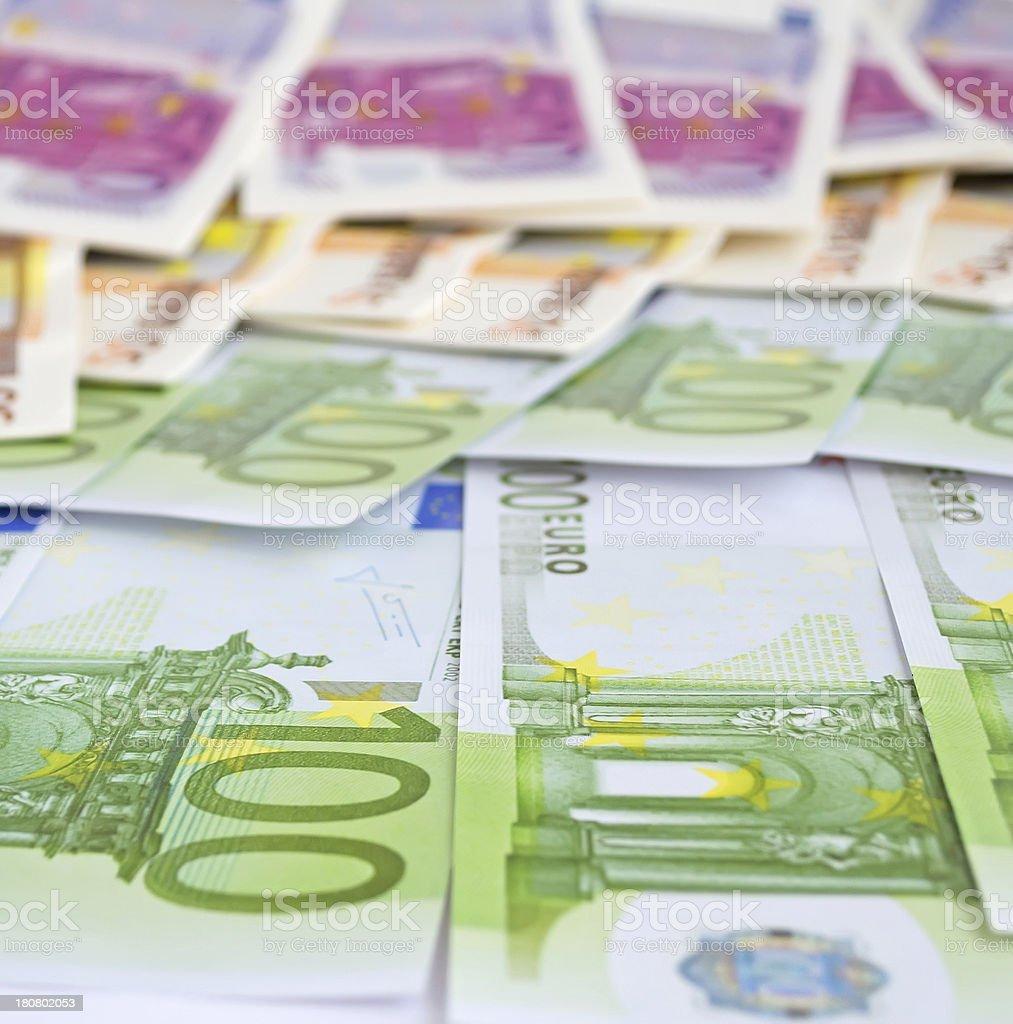 euro bills royalty-free stock photo
