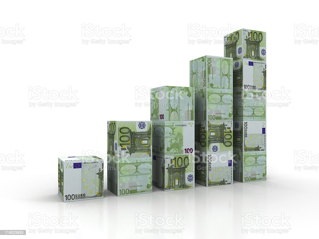 Euro Blocks Chart royalty-free stock photo